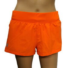 Under Armour UA HeatGear Run Ladies Orange Sports Mini Running Shorts Size Small