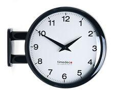 Modern Art Design Double Sided Wall Clock Station Clock Home Decor - Ma5Black