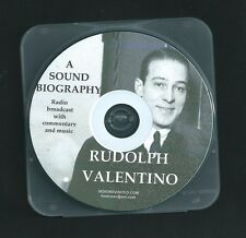 RUDOLPH VALENTINO sound biography CD otr radio show commentary facts songs +case