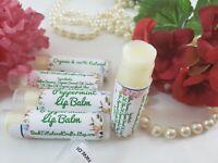 5 tubes Beeswax healing lip balm salve moisture 100% natural organic peppermint