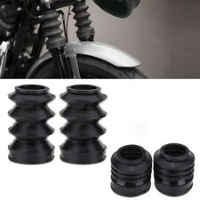 39mm Rubber Front Fork Boot Shock Gaiters For Harley Sportster Dyna XL883 AP.2x#