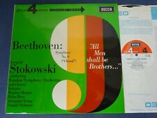 NM BEETHOVEN - SYMPHONY NO 9 LP, London S/O, Stokowski, DECCA PFS 4183