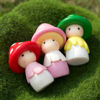 Garden DIY Miniature Figurine Plant Mushroom Dolls Pot Fairy Dollhouse Decor