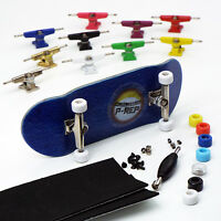 P-REP NOLO 34mm Blue Complete Wooden Fingerboard - Pick Trucks and Wheels