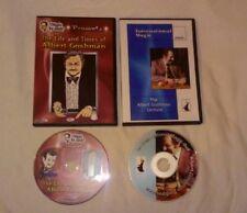 ALBERT GOSHMAN 2 DVD LOT - INTERNATIONAL MAGIC LECTURE COIN MAGIC MISDIRECTION