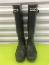 Hunter Matte Olive Green Rainboots Women Size 10