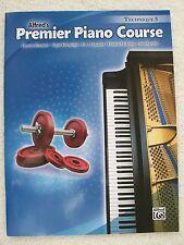 Alfred Premier Piano Course Technique Bk 5 Studies Info Unused