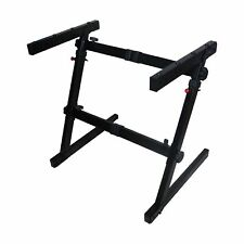 Heavy Duty Z-Stand Keyboard/Case Stand with Adjustable Width and Height