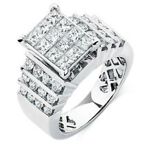 MHJ LADIES RING WITH 2 CARAT TW OF DIAMONDS IN 14CT WHITE GOLD / RRP $6159