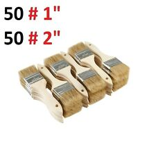 "Mix of  50# 2"" and 50 # 1"" Chip Brushes Perfect for Adhesives Paint 1 and 2 Inch"