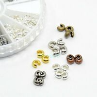 CRIMP COVER CONCEAL CRIMP BEADS and KNOTS CHOICE OF METAL and SIZE FREE SHIPPING