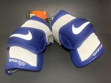 Nike Vapor Elite Lacrosse Arm Pads Reflective Size Large White Blue #Pd Apv602