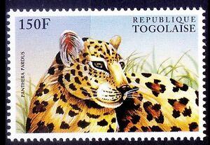 Leopard, Panthera Pardus, Togo 1996 MNH, Wild Animals