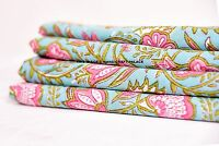 Indian Floral Printed Cotton Designer Dressmaking Decor Sewing Fabric By 5 Yard
