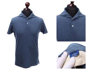 Men's BARBA Napoli Navy Cotton Pique Polo Shirt Size S