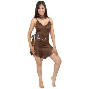 Pocahontas Costume Adult Indian Girl Halloween Fancy Dress