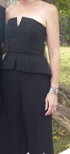 Cue strapless Black jumpsuit Size 10