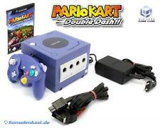 Nintendo GameCube - console #purple + Mario Kart + gamepad + equipment