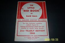 1946 The Little RED BOOK Of Baseball JOE DIMAGGIO Ted WILLIAMS 150 page ORIGINAL