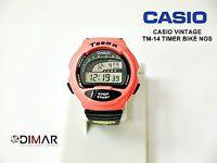 VINTAGE CASIO TM-14 TIMER BIKE QW.1006 WR.50m AÑO 1992