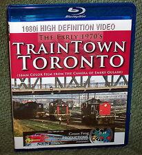 "20273 BLU-RAY HD TRAIN VIDEO ""TRAINTOWN TORONTO"" EMERY GULASH 70's"