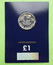Royal Mint 2017  Nations of a Crown UK £1 Certified BU Coin on Card New