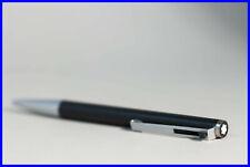 1980 MONTBLANC 782 Ball Pix Pen in BLACK & STEEL - new refill inside