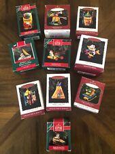 Lot of 10 Crayola Crayon Collector Series Hallmark Ornaments 1989-1998