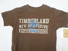 Timberland, 3/4 ans, marron graphique t shirt, manches courtes, Bnwt