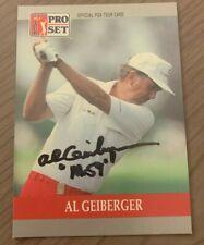 AL GEIBERGER AUTOGRAPHED 1990 PRO SET GOLF CARD W/COA  MR. 59