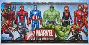 NEW HASBRO MARVEL AVENGERS TITAN HERO SERIES 12 INCH ACTION FIGURE 6 PACK SET
