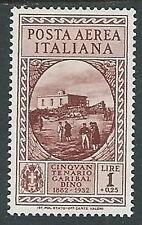 1932 REGNO POSTA AEREA GARIBALDI 1 LIRA MH * - Y017