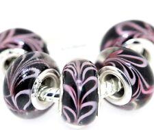 5X handmade silver Murano Lampwork Glass Beads for European Charm Bracelet L60