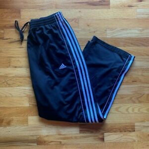 Adidas Black with White Stripes Mens Athletic Pants XL Gently Used