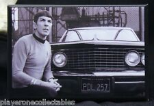 "Star Trek ""Spock"" B & W Photo 2"" X 3"" Fridge Magnet. TOS Leonard Nimoy"