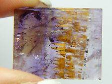 Q-107 Super seven 7,Melody stone, 23.05ct 25x21x4mm Brazil,slice,Cacoxenite
