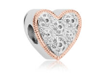 NEW Clogau Silver & Rose Gold Cannetille Heart Milestones Bead Charm £35 off!