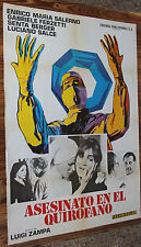 Used  Cartel de Cine  ASESINATO EN EL QUIROFANO  Vintage Movie Film Poster Usado