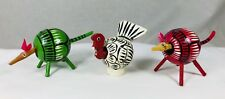 2 Bobblehead Anteaters & 1 Turkey Gourds & Wood Hand Painted Latin American