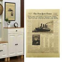 The New York Times History Poster Titanic Shipwreck Retro O Newspaper Paper C2T9