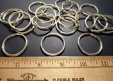 "50 Brass Plated Split Key Rings 1 1/16"" ID  - PLATED"