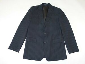Nautica Boy's Pinstripe Blazer Jacket Size 20 Regular Black Polyester 20R Lined
