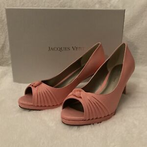 Jaques Vert Shoes Size 3 Coral Heel Wedding Occasion Dressy RRP£99