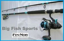 FIN-NOR BAIT TEASER 8' Fishing Combo Spinning Rod and Reel NEW! #BT60802MH