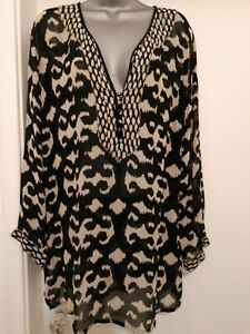 EAST GORGEOUS LONG SLEEVE TUNIC TOP SIZE 16