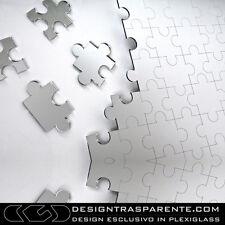 """Specchio moderno da parete """"Puzzle"""" 60X40 cm- Designtrasparente.com_"""