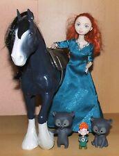 Disney Barbie Merida & Pferd / Horse Angus mit Bärenbrüder *