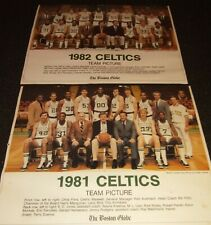 1981 & 1982 BOSTON CELTICS 8X10 TEAM PHOTO LARRY BIRD AINGE PARISH LOT OF TWO!