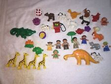Lot of about 35 Lego Duplo  People Animal other Figures