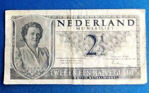 PAYS-BAS BILLET DE 2 1/2 GULDEN 1949 6 WK 090049